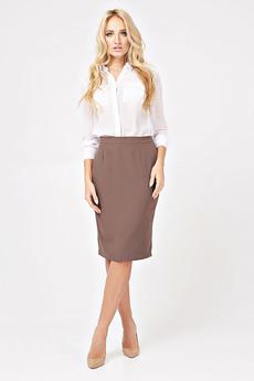 Коричневая юбка-карандаш Angela Ricci со скидкой